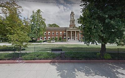 Screen capture of the Pittsburgh Theological Seminary, Pittsburgh. (Google maps)