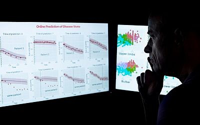 Prof. Boaz Lerner of Ben-Gurion University of the Negev has developed an AI-based software to monitor and predict the progression of neurodegenerative diseases. (Dani Machlis)