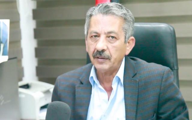 Mahmoud Abu al-Haija, the editor-in-chief of Al-Hayat Al-Jadida, the Palestinian Authority's daily. (Screenshot: Hibr)
