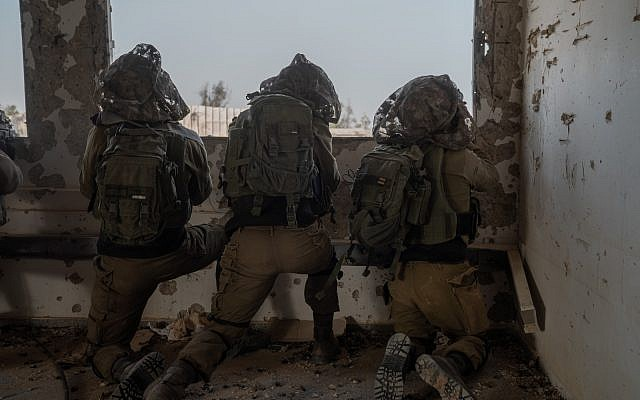 In a photo released by the Israel Defense Forces on February 26, 2019, soldiers take part in a snap drill at the Tzeelim base in southern Israel simulating a future military conflict in the Gaza Strip. (Israel Defense Forces)