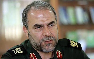 Brig. Gen. Yadollah Javani, the deputy head of the political bureau of Iran's Revolutionary Guards. (CC BY 4.0, sayyed shahab-o- din vajedi, Wikipedia)