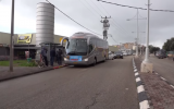 The launch of the new Saturday bus line in the northern city of Tiberias on February 9, 2019. (Screen capture/YouTube)