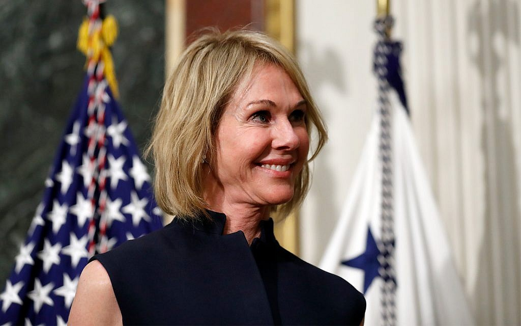 Trump names Kelly Craft to succeed Nikki Haley as US ambassador to the UN   The Times of Israel