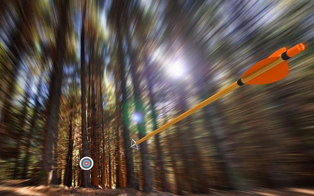 Illustrative: An arrow speeding through a motion blurred forest (iStock)