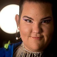 Israeli singer Netta Barzilai, who won the 2018 Eurovision song contest, in Tel Aviv, January 29, 2019. (AP Photo/Sebastian Scheiner)