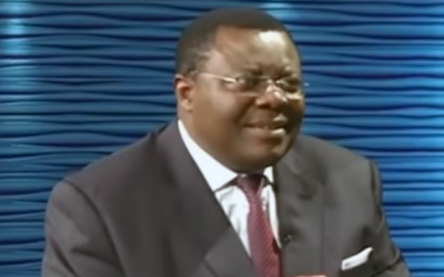 Cameroon's Deputy justice minister Jean de Dieu Momo speaks to the Crtv network on Sunday, February 3, 2019 (screenshot)