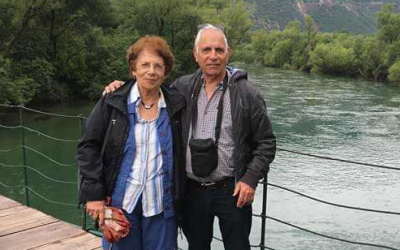 Chile rafting accident victim Dalia Ronen is seen in an undated photo, alongside an unidentified man (Courtesy)