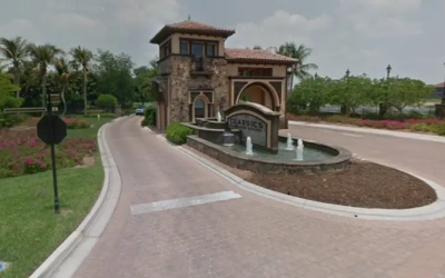 The entrance to Classics Plantation Estates in Naples, Florida. (Screenshot: Google Street View)