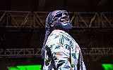 T-Pain onstage at Forecastle Music Festival in Louisville, Kentucky, July 14, 2018. (Amy Harris/Invision/AP)