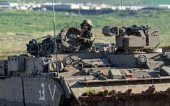 In a photo released by the Israel Defense Forces on February 14, 2019, soldiers are seen during a military exercise in the Jordan valley. (Israel Defense Forces)