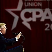 US President Donald Trump speaks during the annual Conservative Political Action Conference (CPAC) in National Harbor, Maryland, on March 2, 2019. (Nicholas Kamm / AFP)