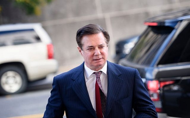 In this file photo taken on June 15, 2018, Paul Manafort arrives for a hearing at US District Court in Washington, DC. (Brendan Smialowski/AFP)