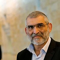 Otzma Yehudit party's Michael Ben Ari attends a hearing at the Supreme Court in Jerusalem on March 14, 2019, to be allowed to run for a Knesset seat. ( GIL COHEN-MAGEN / AFP)