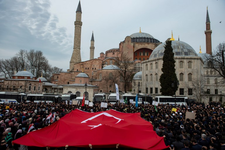 Hagia Sophia could be turned back into a mosque, Turkish president says