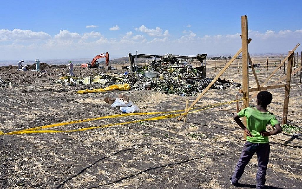 Police team dispatched to Ethiopia crash site to search for Israelis' remains