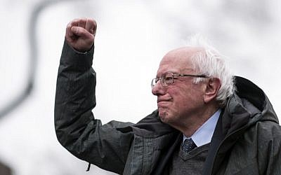 In this file photo from March 2, 2019 US Senator Bernie Sanders arrives for a rally to kick off his 2020 US presidential campaign, in the Brooklyn borough of New York City. (Johannes Eisele/AFP)