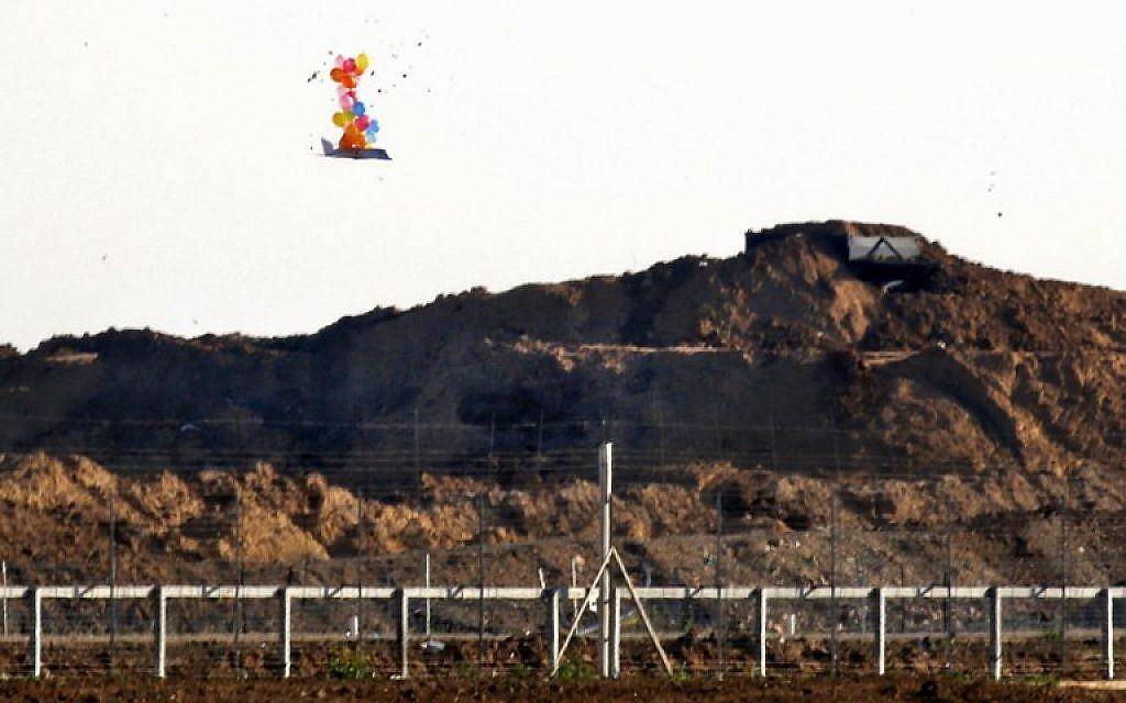 Israeli aircraft fire at 2 Gaza cells launching incendiary balloons