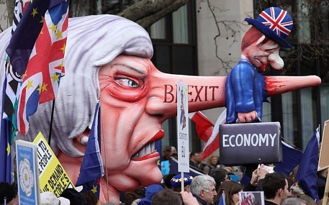 UK's Embattled May Faces Huge Anti-Brexit March