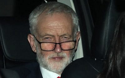 Britain's opposition Labour party leader Jeremy Corbyn leaves from the Houses of Parliament in Westminster, in central London on March 27, 2019, after hearing the outcome of the indicative votes on the alternative options for Brexit. (Daniel Leal-Olivas/AFP)
