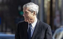 US Special Counsel Robert Mueller walks, after attending church, on March 24, 2019 in Washington, DC. (Tasos Katopodis/Getty Images/AFP)