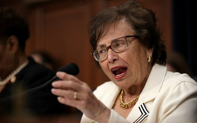 US House Appropriations Committee Chairwoman Nita Lowey, a Democrat from New York, delivers opening remarks before hearing Secretary of State Mike Pompeo testify before the State, Foreign Operations and Related Programs subcommittee about his department's 2020 budget request, on March 27, 2019 in Washington, DC. (Chip Somodevilla/Getty Images/AFP)