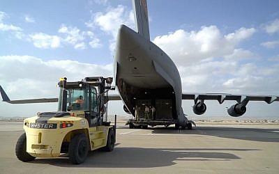 The US military returns a THAAD missile defense system from Israel to its home base, March 2019. (US Army Europe)