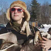 Blair Braverman, 30, says all her sled dogs are Jewish -- with the exception of one. (Christina Bodznic via JTA)