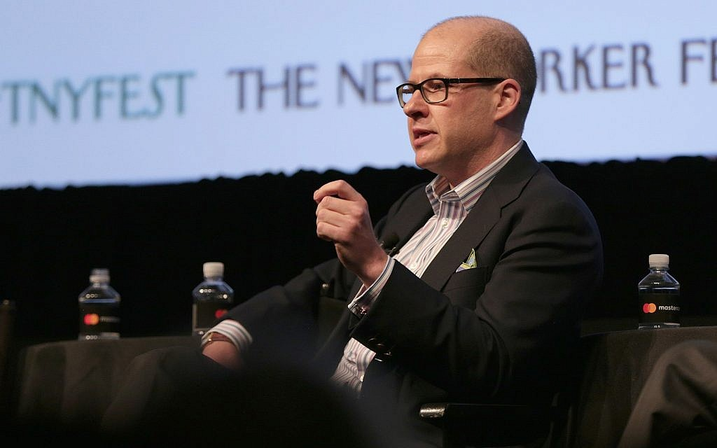 Max Boot speaks onstage at the New Yorker Festival at the SVA Theatre in New York City, October 8, 2016. (Anna Webber/Getty Images for The New Yorker/via JTA)