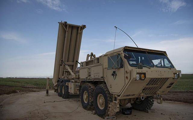 The US military deploys a THAAD missile defense system in Israel, March 2019. (US Army Europe)