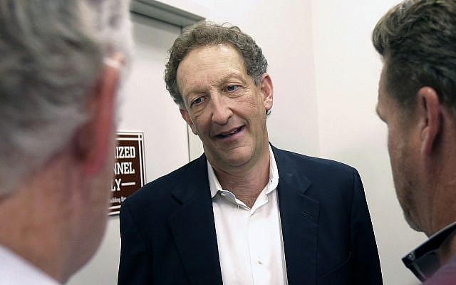 In this Monday, Oct. 5, 2015 file photo, San Francisco Giants president and CEO Larry Baer speaks to reporters after a news conference in San Francisco. (AP Photo/Jeff Chiu)