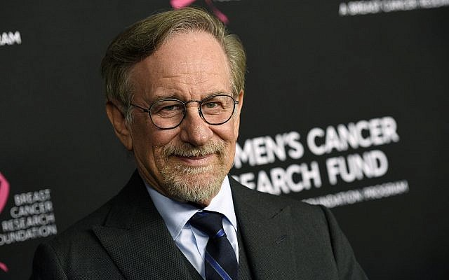 """In this photo from February 28, 2019, filmmaker Steven Spielberg poses at the 2019 """"An Unforgettable Evening"""" benefiting the Women's Cancer Research Fund, at the Beverly Wilshire Hotel, in Beverly Hills, California. (Chris Pizzello/Invision/AP, File)"""