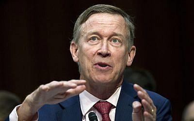 Colorado Governor John Hickenlooper speaks during a Senate hearing on Capitol Hill in Washington, September 7, 2017. (Jose Luis Magana/AP)