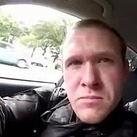 This frame from video that was livestreamed on March 15, 2019, shows gunman Brenton Tarrant in a car before the mosque shootings in Christchurch, New Zealand. (Shooter's Video via AP)