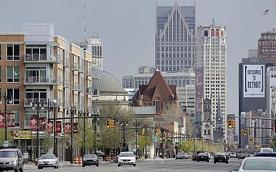 Illustrative: A view of midtown Detroit, April 10, 2012. (AP Photo/Carlos Osorio)