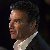 Mossad chief Yossi Cohen attends US Independence Day celebrations at the residence of US ambassador David Friedman in Herzliya, July 3, 2017. (Heidi Levine, Pool via AP/File)
