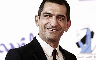 Egyptian actor Amr Waked arrives on the red carpet during the first International El Gouna Film Festival, in the Red Sea resort of el-Gouna, Egypt, September 22, 2017. (AP Photo/Nariman El-Mofty)