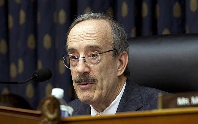 House Foreign Affairs Committee Chairman Representative Eliot Engel (Democrat-New York) speaks during a House Foreign Affairs subcommittee hearing at Capitol Hill in Washington, on February 13, 2019. (AP Photo/Jose Luis Magana)