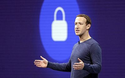 Facebook CEO Mark Zuckerberg delivers the keynote speech at F8, Facebook's developer conference, in San Jose, California, May 1, 2018. (AP Photo/Marcio Jose Sanchez, File)