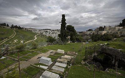 The Karaite cemetery in Jerusalem, photographed on March 2, 2019. (AP Photo/Dusan Vranic)