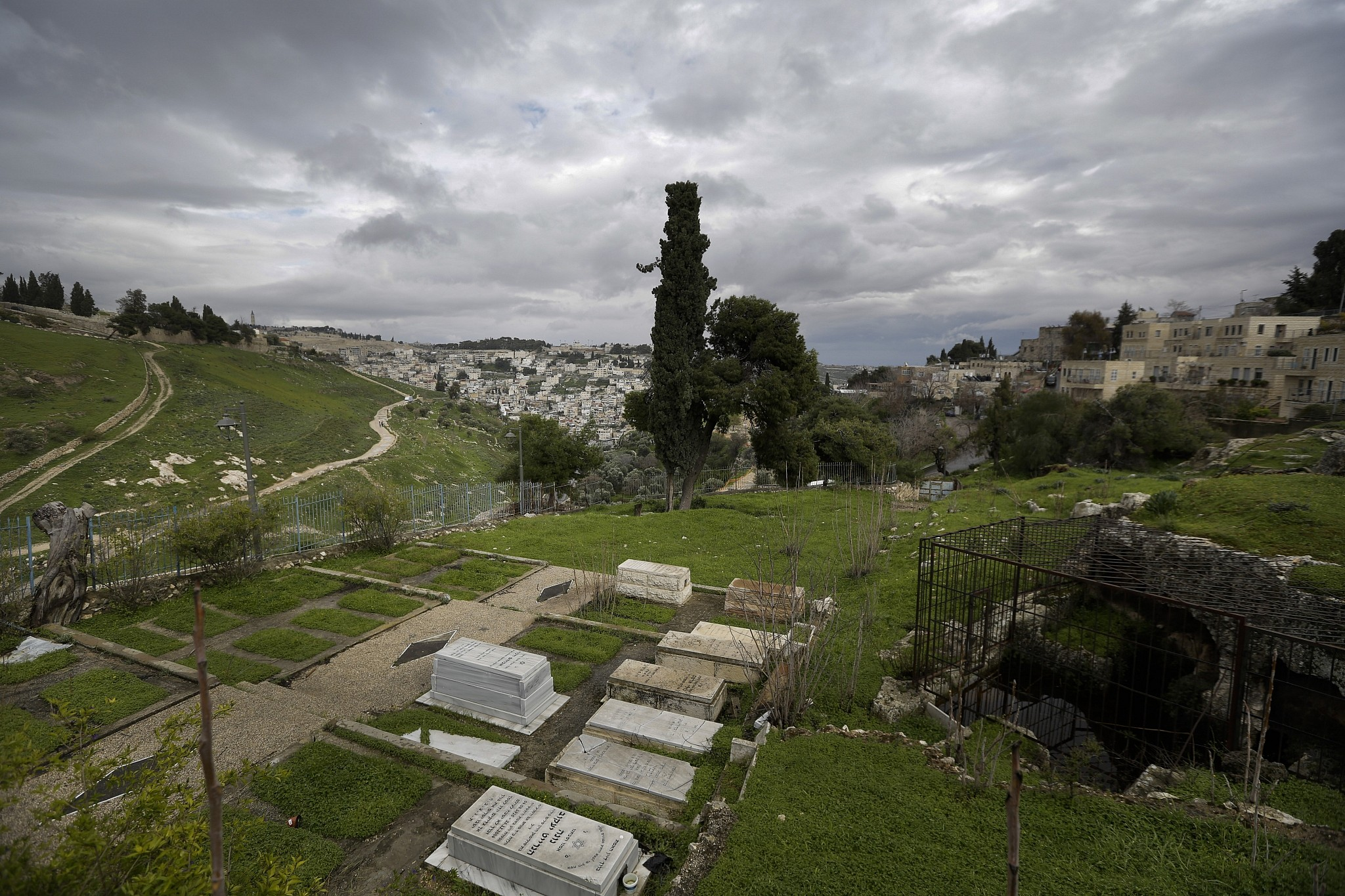 The Karaite cemetery in Jerusalem, photographed on March 2, 2019. (AP Photo/Dusan Vranic)
