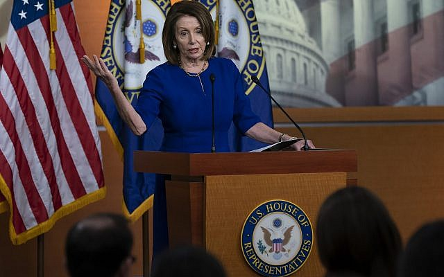 Speaker of the House Nancy Pelosi, D-Calif., meets with reporters during her weekly news conference, at the Capitol in Washington, Thursday, March 7, 2019. (AP/J. Scott Applewhite)