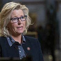 House Republican Conference Chair Liz Cheney outside the House chamber at the Capitol in Washington, Friday, March 8, 2019 (AP Photo/J. Scott Applewhite)
