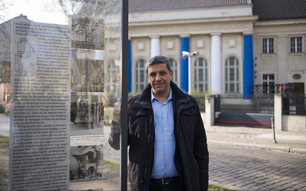 Palestinian-born Berliner leads efforts to rebuild synagogue