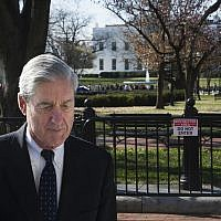 Special Counsel Robert Mueller walks past the White House, after attending services at St. John's Episcopal Church, in Washington, DC, on March 24, 2019. (Cliff Owen/AP)