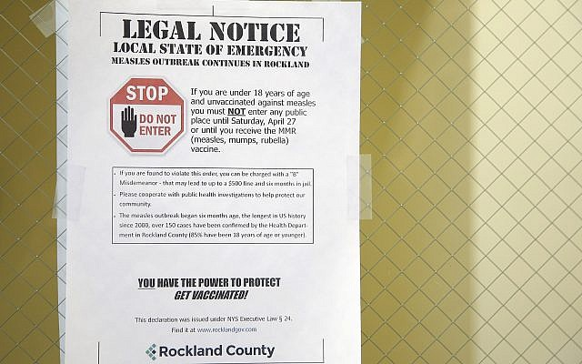 Rockland County bans unvaccinated minors from public spaces
