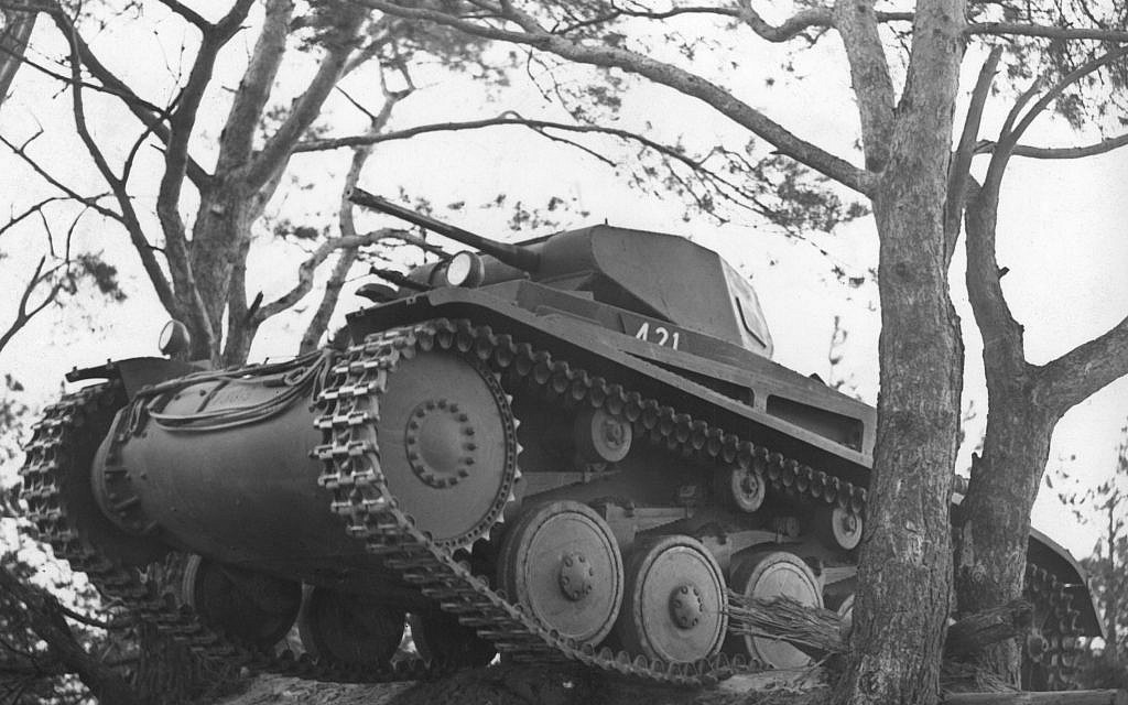 A Nazi German tank during training in the Wuensdorf Forest on November 25, 1938. (AP)