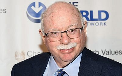 Financier and philanthropist Michael Steinhardt attends the Champions of Jewish Values International Awards Gala at the Marriott Marquis on May 5, 2016, in New York (Evan Agostini/Invision/AP)