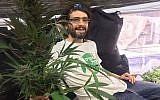 Amos Silver with a cannabis plant. (Courtesy)