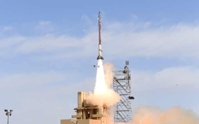 Interception tests of the David's Sling Aerial Defense System on March 19, 2019. (Defense Ministry)