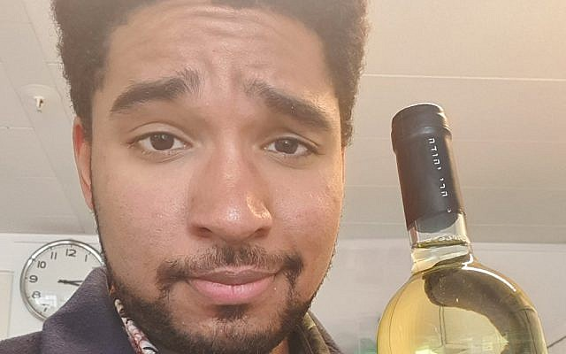 Damien Zeller, one of the people who rushed out to by a bottle of Israeli wine in the Netherlands, March 2019. (Courtesy Damien Zeller, via JTA)